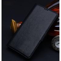 Кожаный чехол портмоне (нат. кожа) для Samsung Galaxy Note Edge Черный
