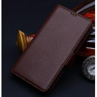 Кожаный чехол портмоне (нат. кожа) для Samsung Galaxy Note Edge Бордовый
