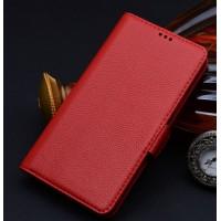 Кожаный чехол портмоне (нат. кожа) для Samsung Galaxy Note Edge Красный