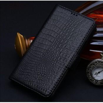 Кожаный чехол портмоне (нат. кожа крокодила) для Samsung Galaxy Note Edge
