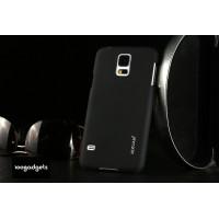 Пластиковый матовый металлик чехол для Samsung Galaxy Note Edge Черный