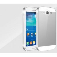Двухкомпонентный чехол с металлическим бампером и пластиковой накладкой для Samsung Galaxy Grand / Grand Neo