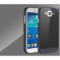 Двухкомпонентный чехол с металлическим бампером и пластиковой накладкой для Samsung Galaxy Grand / Grand Neo Черный