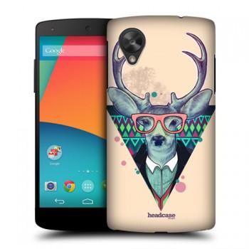 Пластиковый износостойкий матовый дизайнерский чехол с принтом Animal Wisdom для Google LG Nexus 5
