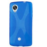 Силиконовый X чехол для Google LG Nexus 5 Синий