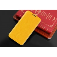 Глянцевый чехол флип подставка для Nokia Lumia 630 Желтый