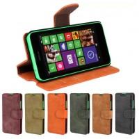 Винтажный замшевый чехол подставка для Nokia Lumia 630