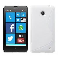 Силиконовый S чехол для Nokia Lumia 630 Белый
