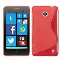 Силиконовый S чехол для Nokia Lumia 630 Красный