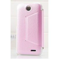 Чехол книжка-подставка для HTC Desire 310 серия Sense Розовый