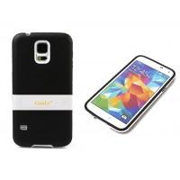 Двухкомпонентный силиконовый чехол с пластиковой ножкой-подставкой для Samsung Galaxy S5 (g900fd g900f g900h) Черный