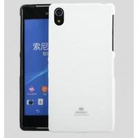 Силиконовый матовый непрозрачный чехол для Sony Xperia Z2 Белый