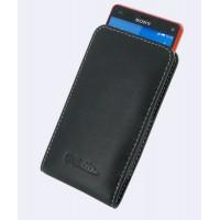 Кожаный чехол футляр на пояс для Sony Xperia Z3 Compact