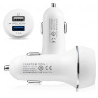 Автомобильное зарядное устройство на 2 разъема с возможностью экспресс-зарядки (1А и 2.4А)  для Nokia 515