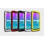 Ульрапротекторный пылевлагозащитный чехол металл/стекло для Samsung Galaxy Note 4