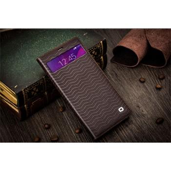 Кожаный дизайнерский текстурированный чехол портмоне для Samsung Galaxy Note 4