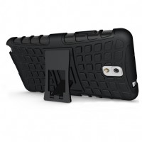 Силиконовый чехол экстрим защита для Samsung Galaxy Note 3 Черный