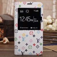 Чехол флип подставка текстурный с окном вызова серия Luxury Brands для Samsung Galaxy Note 3