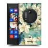 Пластиковый износостойкий матовый дизайнерский чехол с принтом Flowers для Nokia Lumia 1020