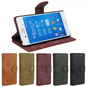 Винтажный чехол портмоне подставка с защелкой для Sony Xperia Z3