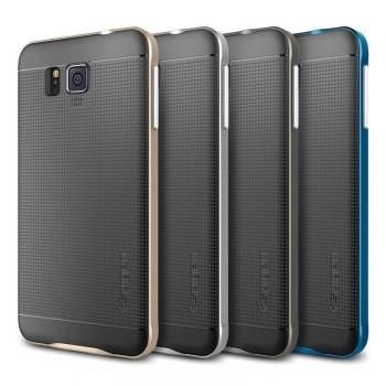 Двухкомпонентный силикон/полукарбонат премиум чехол-бампер для Samsung Galaxy Alpha
