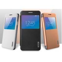 Чехол смарт флип на полупрозрачной основе с окном вызова для Samsung Galaxy Alpha