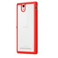 Премиум двухкомпонентный чехол-бампер для Sony Xperia C3 Красный