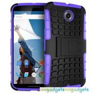 Силиконовый чехол экстрим защита для Google Nexus 6 Фиолетовый