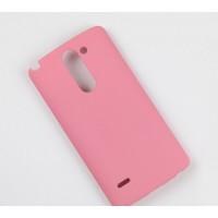 Пластиковый матовый чехол металлик для LG G3 Stylus Розовый