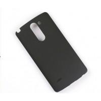 Пластиковый матовый чехол металлик для LG G3 Stylus Черный