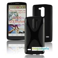 Силиконовый X чехол для LG G3 Stylus Черный