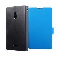 Чехол-флип с магнитной застежкой для Nokia XL Голубой