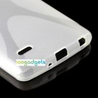 Силиконовый X чехол для LG G3 Stylus Белый