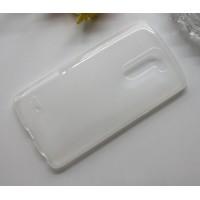 Силиконовый матовый полупрозрачный чехол для LG G3 Stylus Белый