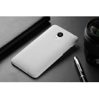 Пластиковый матовый непрозрачный чехол для Meizu MX4 Pro Белый