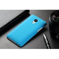 Пластиковый матовый непрозрачный чехол для Meizu MX4 Pro Голубой