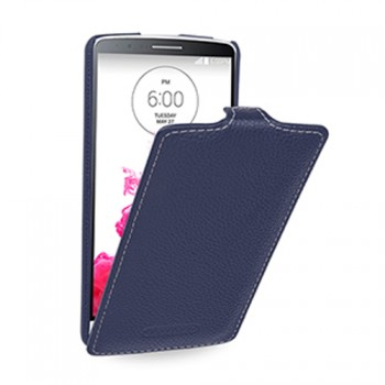 Кожаный чехол вертикальная книжка (нат. кожа) для LG G3