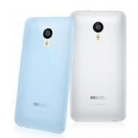 Силиконовый ультратонкий полупрозрачный чехол для Meizu MX4 Pro Синий