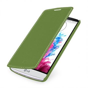 Кожаный чехол горизонтальная книжка (нат. кожа) для LG G3
