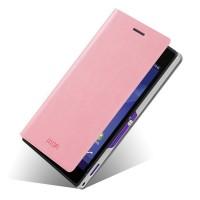 Чехол-флип водоотталкивающий для Sony Xperia M2 dual Розовый