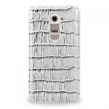 Кожаный чехол накладка (нат. кожа рептилии) для LG G2