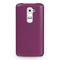 Кожаный чехол накладка (нат. кожа) для LG G2