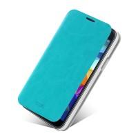 Чехол флип подставка водоотталкивающий для Samsung Galaxy S5 Mini Голубой