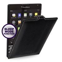 Кожаный смартчехол вертикальная книжка (нат. кожа) для Blackberry Passport