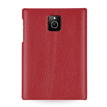 Кожаный чехол накладка (нат. кожа) для Blackberry Passport
