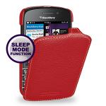 Кожаный чехол вертикальная книжка (нат. кожа) для Blackberry Q10