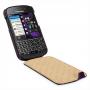 Кожаный чехол вертикальная книжка (нат. кожа с вощеным покрытием) для Blackberry Q10