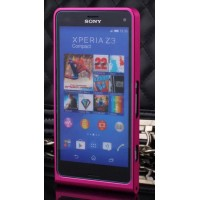 Металлический бампер для Sony Xperia Z3 Compact Пурпурный