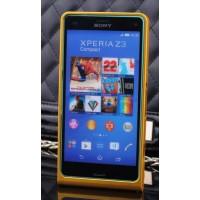 Металлический бампер для Sony Xperia Z3 Compact Желтый