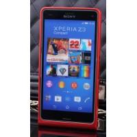 Металлический бампер для Sony Xperia Z3 Compact Красный
